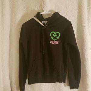 Black Pink Green Hoodie